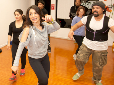 The secret to improving our health and looks is staying motivated says Maria de la Cruz, who leads a zumba exercise class in Oakland's Fruitvale district.