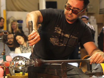 Glass  blowing  artist  Jaime  Guerrero  impacts  the  lives  of  young people through his art and his dedication to community.