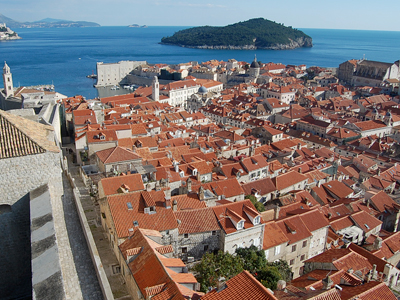 View of Dubrovnik from the ancient wall.