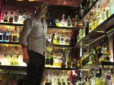 Kiki Ingber at the bar, which boasts the largest tequila selection in Scandinavia – more than 120 labels.